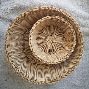 Wicker Baskets [Set of 2!] Like NEW